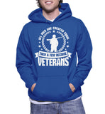 All Men Are Created Equal Then A Few Become Veterans Hoodie