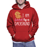 I Am Loved By A Dachshund Hoodie