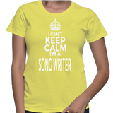I Can't Keep Calm I'm A Song Writer T-Shirt