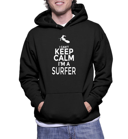 I Can't Keep Calm I'm A Surfer Hoodie