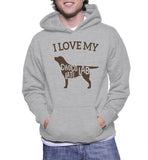 I Love My Choco Lab Late Hoodie