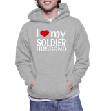 I Love My Soldier Husband Hoodie