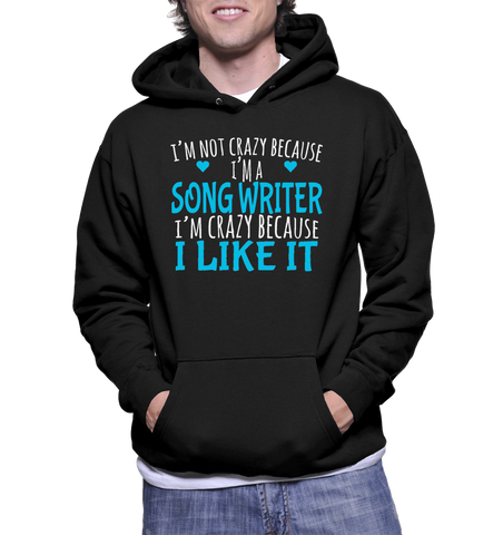 I'm Not Crazy Because I'm A Song Writer I'm Crazy Because I Like It Hoodie