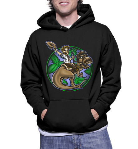 Jurassic Parks And Rec Print Hoodie