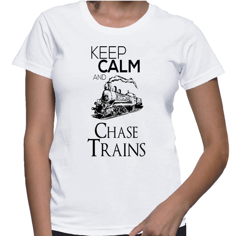 Keep Calm And Chase Trains T-Shirt