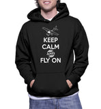 Keep Calm And Fly On Hoodie