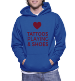 Love Tattoos Playing & Shoes Hoodie