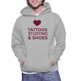 Love Tattoos Studying Shoes Hoodie