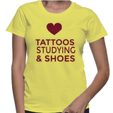 Love Tattoos Studying Shoes T-Shirt