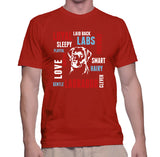 Loyal Sleepy Laid back Labs Friendly Playfull Snoring Love Gentle Smart Hairy Clever Labrador  T-Shirt