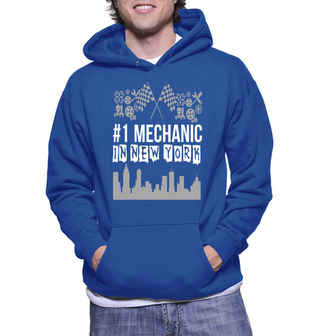 #1 Mechanic In New York Hoodie