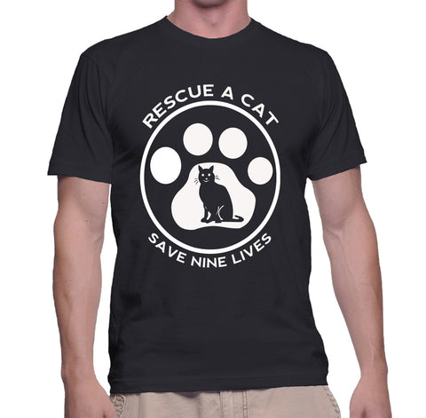 Rescue A Cat Save Nine Lives T-Shirt