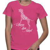 Rescue Love Adopt Pitbull T-Shirt