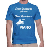 Some Grandpas Play Bingo Real Grandpas Play Piano T-Shirt