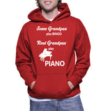 Some Grandpas Play Bingo Real Grandpas Play Piano Hoodie