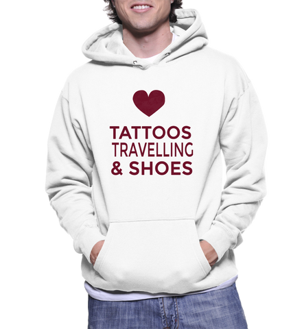 Tattoos Travelling & Shoes Hoodie