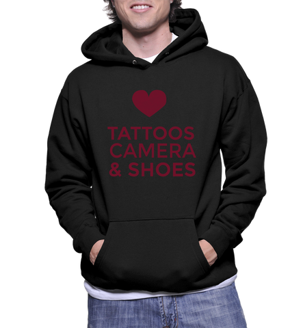 Tattoos Camera & Shoes Hoodie