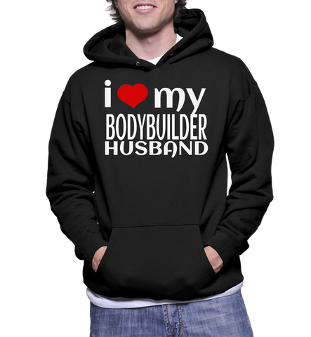 I Love My Bodybuilder Husband Hoodie