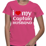 I Love My Captain Husband T-Shirt