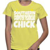 Southern Computer Technician Chick T-Shirt