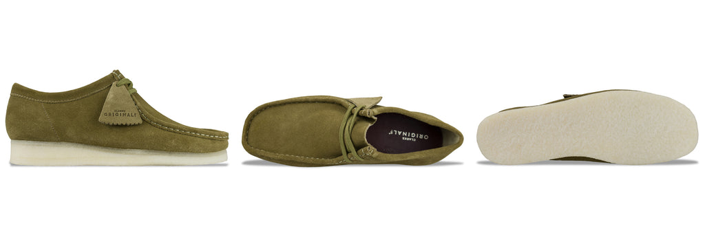 Clarks Originals Wallabee in Olive Suede