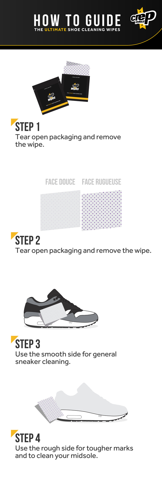 Crep Protect Wipes User Guide