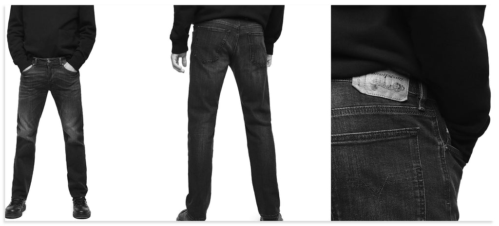 Diesel Waykee Straight-Tapered Jeans
