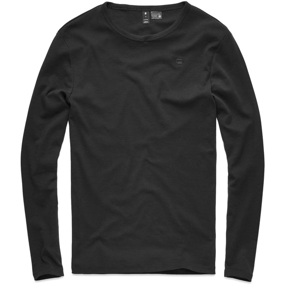 G-Star Base Round Neck Long Sleeve T-Shirt - Black