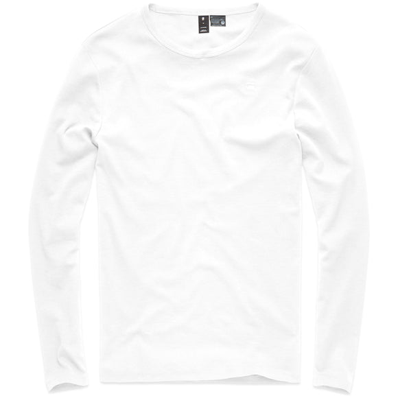 G-Star Base Round Neck Long Sleeve T-Shirt - White