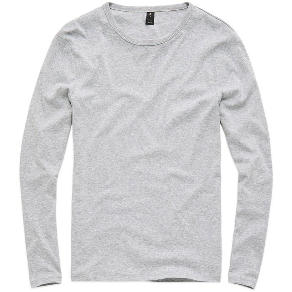 G-Star Base Round Neck Long Sleeve T-Shirt - Grey