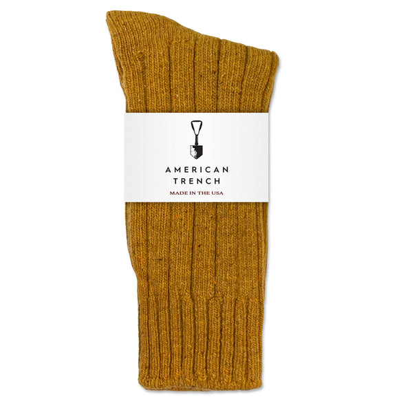 American Trench Wool & Silk Boot Sock - Ochre