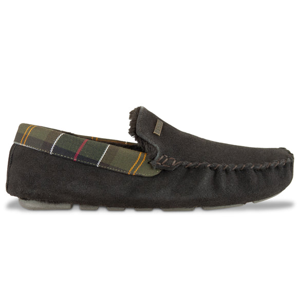 Barbour Monty Slipper - Brown - Arena Menswear