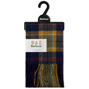 Barbour Tartan Lambswool Scarf - Green/Navy/Red