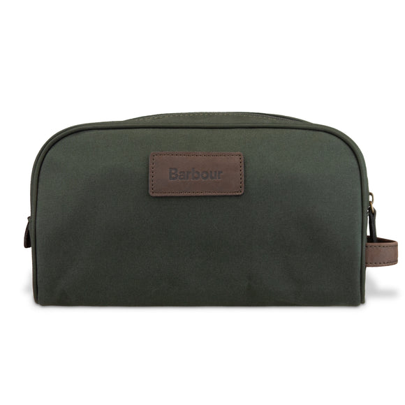 Barbour Drywax Wash Bag - Olive