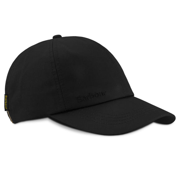 Barbour Wax Sports Cap - Black