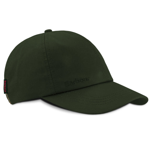 Barbour Wax Sports Cap - Sage