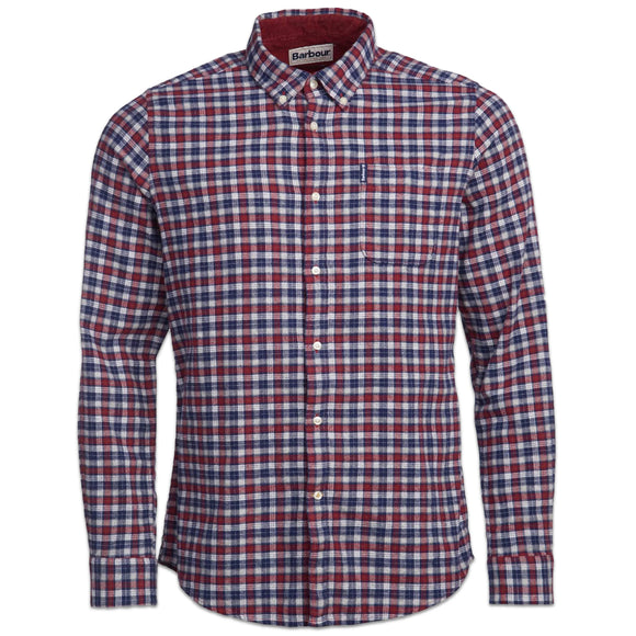 Barbour Country Check 12 Tailored Shirt - Rich Red