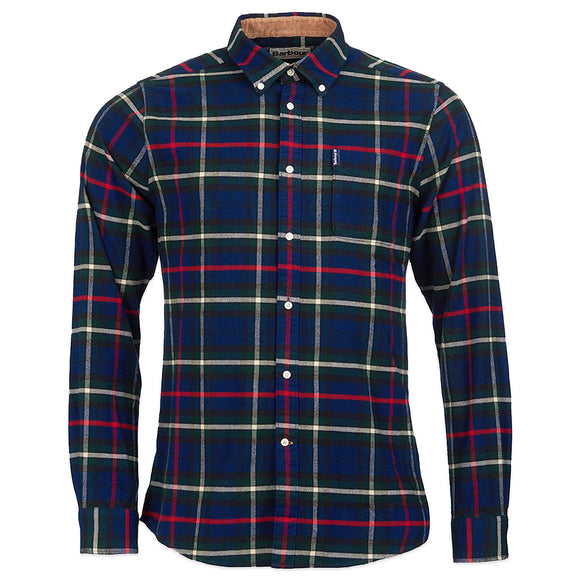 Barbour Highland Check 19 Tailored Shirt - Navy