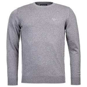 Barbour Pima Cotton Crew Knit - Grey