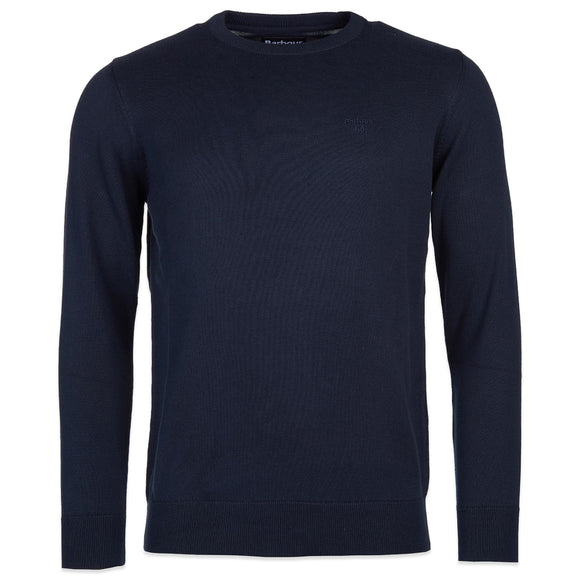 Barbour Pima Cotton Crew Knit - Navy