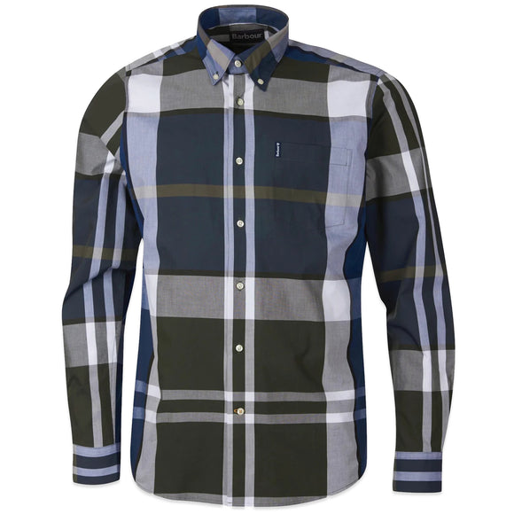 Barbour Tartan 12 Tailored Shirt - Sage