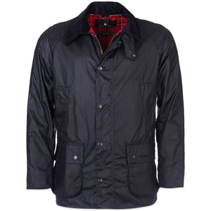 Barbour Ashby Wax Jacket - Black - Arena Menswear