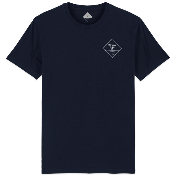 Barbour Beacon Box Logo T-Shirt - Navy