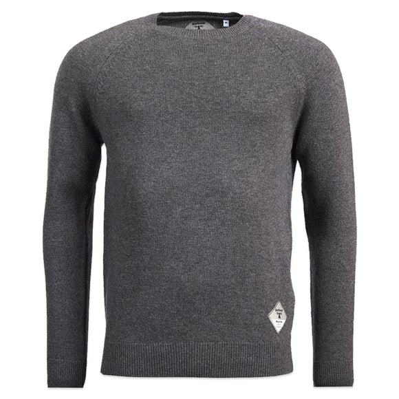 Barbour Beacon Lambswool Crew Neck Jumper - Grey Marl