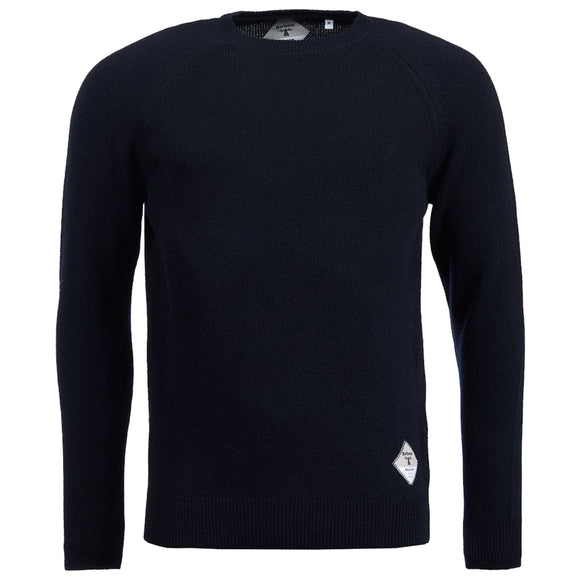 Barbour Beacon Lambswool Crew Neck Jumper - Navy