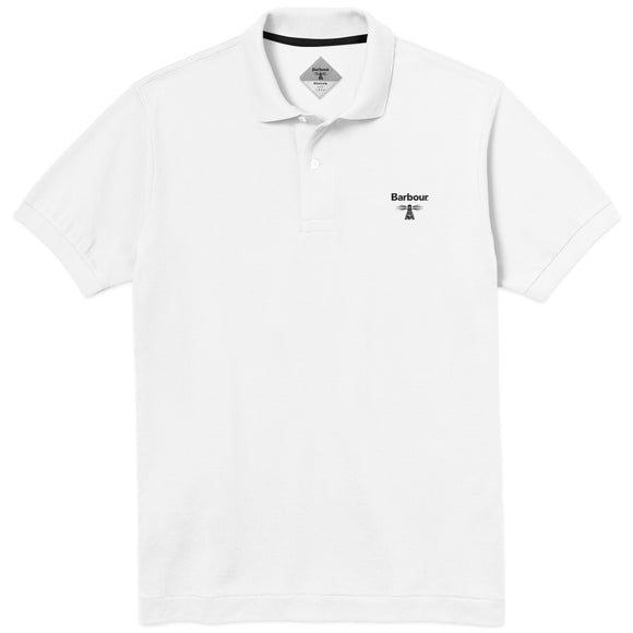 Barbour Beacon Polo - White - Arena Menswear
