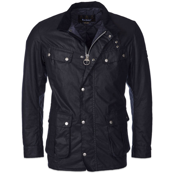 Barbour International Duke Wax Jacket - Navy