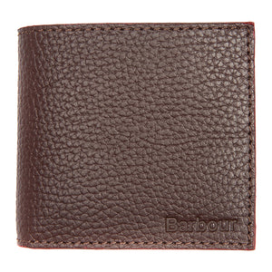 Barbour Grain Leather Billfold Wallet - Brown