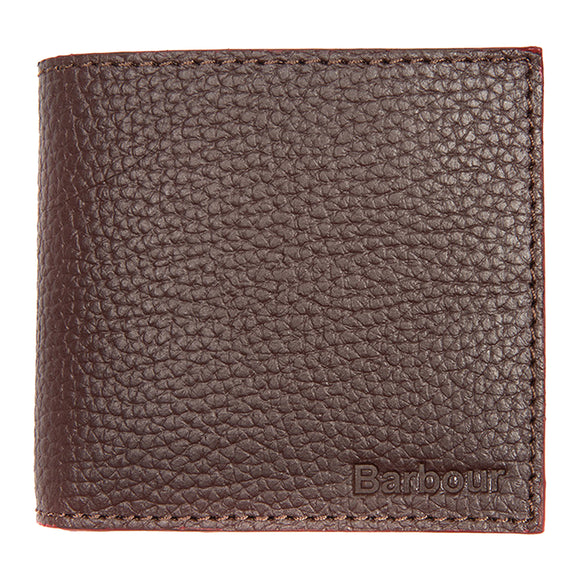 Barbour Grain Leather Billfold Wallet - Brown - Arena Menswear