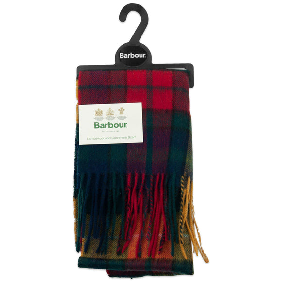 Barbour New Check Tartan Scarf - Modern